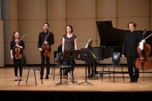 Tatjana Roos (violin), Jordan Bak (violin), Keiko Sekino (piano), Colin Carr (cello)