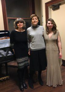 Dina Vainschtein (pianist), Miriam Fried (Professor), Tatjana Roos (violin)